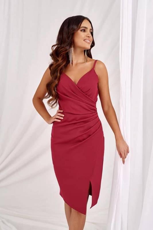Krótka Sukienka Laura II- bordowy