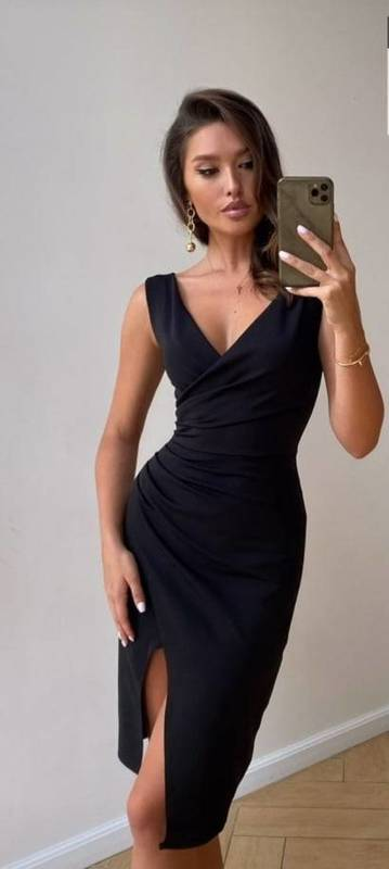 Krótka Sukienka Laura - czarny