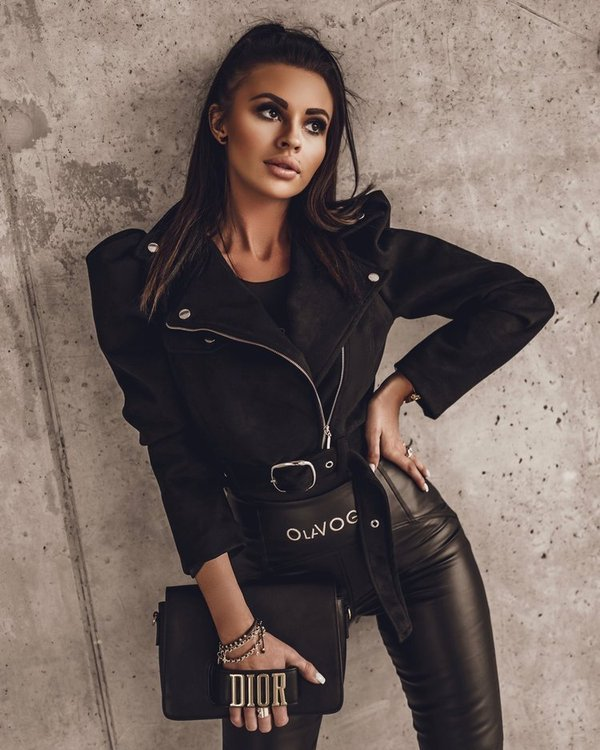 Kurtka ramoneska Biker Jacket -czarna