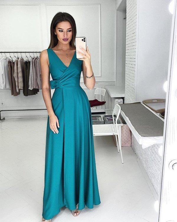 Sukienka Oprah- butelkowa zieleń