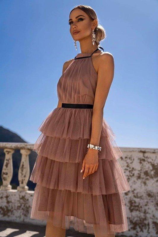 Sukienka ZOYA- beżowy