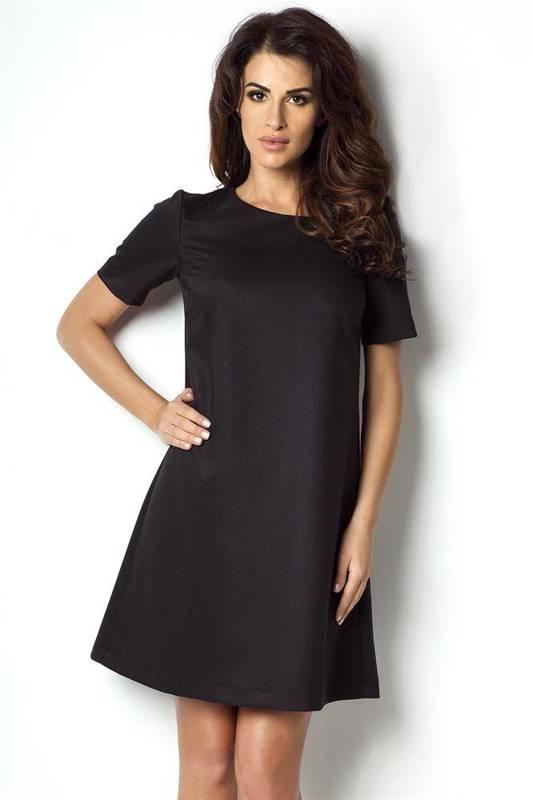 claudia mała czarna wizytowa sukienka rozkloszowana do pracy