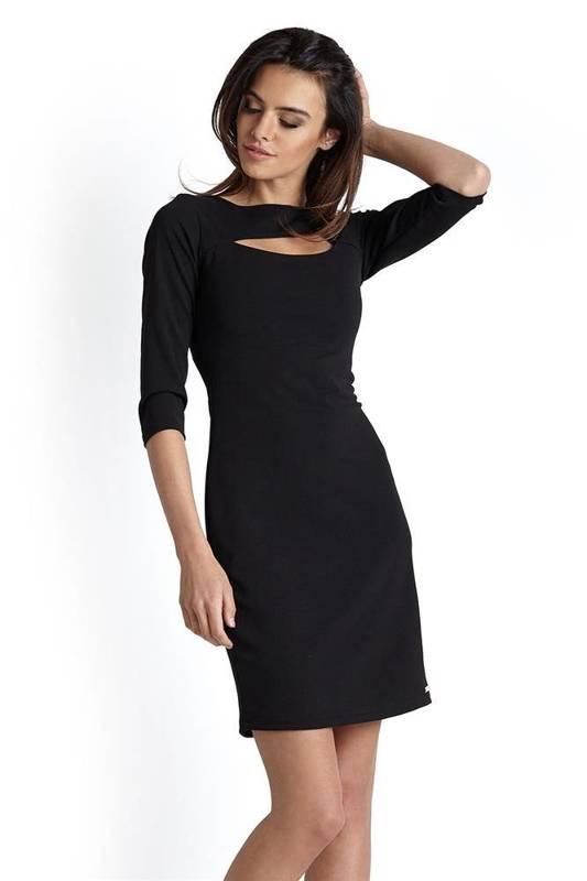 erica czarna elegancka mini sukienka ołówkowa