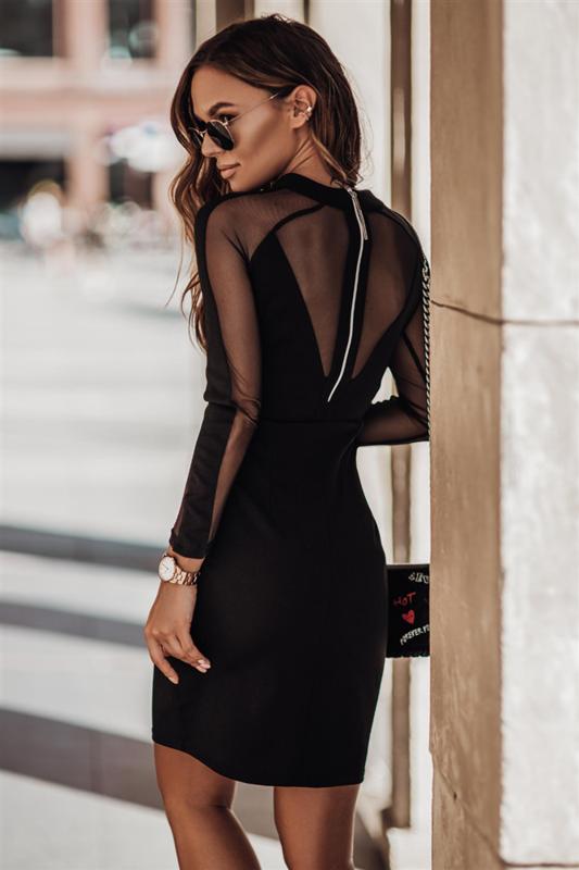jessica mała czarna klasyczna sukienka ołówkowa na sylwestra