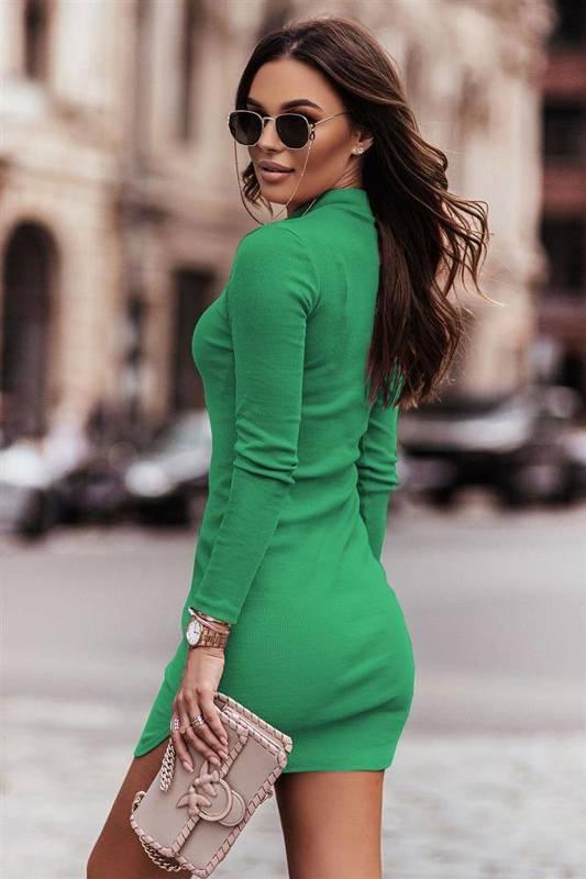 marinessa bottega green elegancka mini sukienka ołówkowa
