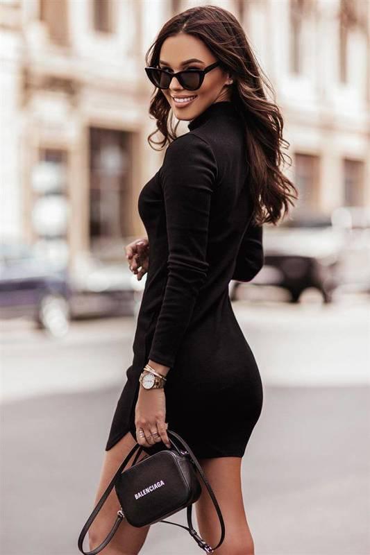 marinessa mała czarna elegancka sukienka ołówkowa