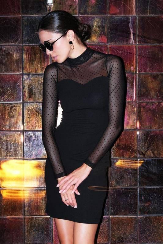 mindy mała czarna elegancka sukienka ołówkowa na wesele