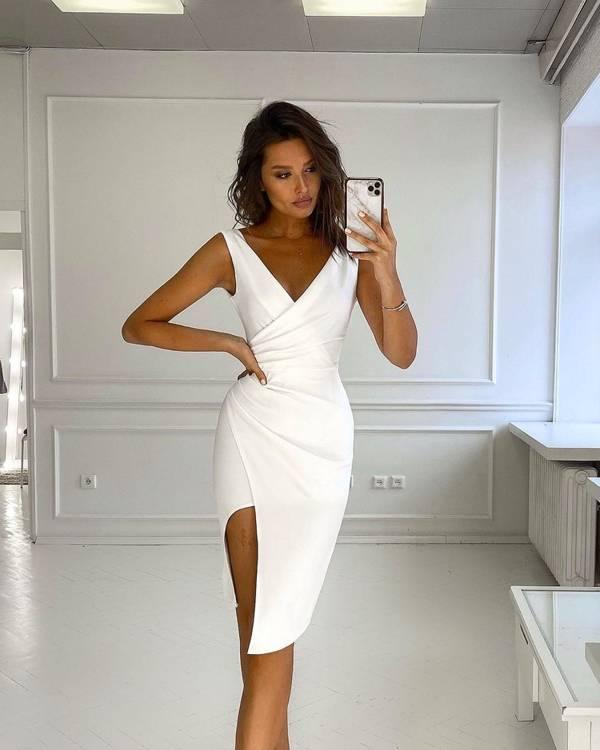 Krótka Sukienka Laura - ecru