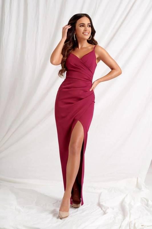 Sukienka Laura II-  bordowy