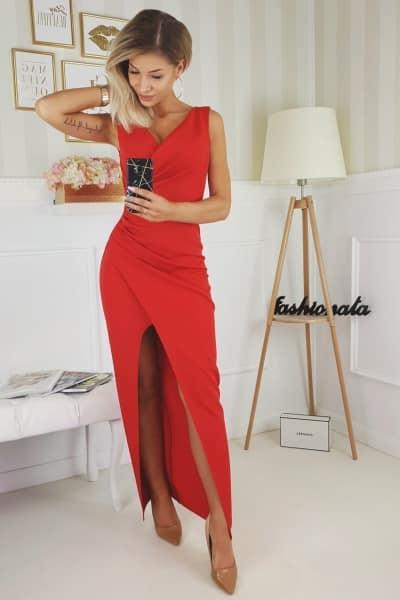 Sukienka Laura- czerwony