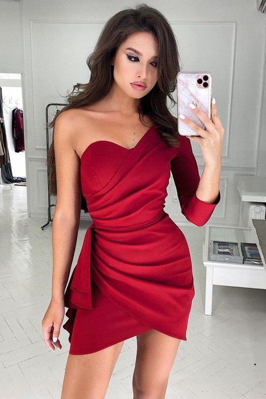 Sukienka Queeny - rubin